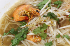 Phnom Penh w/ Shrimp! (sheryip) Tags: food soup yum shrimp delicious noodle phnom penh