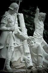 Jesus Falls (loybax) Tags: statue canon easter god jesus christian stationsofthecross jesuschrist lent 1755 60d