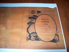 Ray's Lunch diner menu 1933 (mandb41) Tags: car lunch rays 41 1933 natick