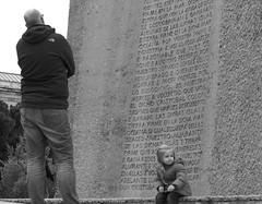 Contemplation (Halcon122) Tags: street plaza bw monument candid salamanca colon epm2