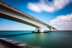 Reach (80D-Ray) Tags: longexposure architecture nederland zeeland cokin oosterschelde zeelandbrug colijnsplaat noordbeveland nd4 nd110 ooserschelde nd119