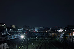 (Hoo Koo E) Tags: railroad plant metal night train landscape industrial steel machine sigma nightscene nightview foveon depots dp2x
