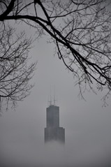 The Fog (Seth Oliver Photographic Art) Tags: city chicago fog clouds iso200 illinois nikon midwest skyscrapers searstower cityscapes pinoy circularpolarizer urbanscapes secondcity windycity chicagoist d90 handheldshot cityofbigshoulders aperturef56 180secondexposure manualmodeexposure willistower setholiver1 18105mmnikkorlens