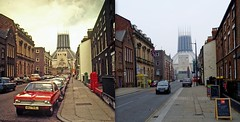 Hope Street, 1970s and 2013 (Keithjones84) Tags: street old city history liverpool comparison oldphotos thenandnow merseyside localhistory oldliverpool