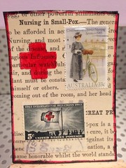 Nursing Tribute (Wenturner71) Tags: red atc cross stamp nurse postage swapbot uploaded:by=flickrmobile flickriosapp:filter=nofilter