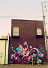 Alley Robot (SOMETHiNG MONUMENTAL) Tags: street building art canon graffiti robot alley mural indianapolis indiana g11 fountainsquare somethingmonumental mandycrandell