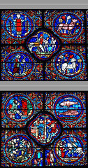 Chartres - Labors of the months & Zodiac (lower part) (petrus.agricola) Tags: window glass des stained cathdrale vitrail zodiac months mois dei chartres travaux cathedrale zodiaque ciclo vitraux labours labors mesi monatsarbeiten