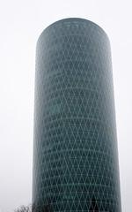 Traumturm, Frankfurt am Main 2013 (Spiegelneuronen) Tags: architektur westhafen westhafentower frankfurtammain geripptes