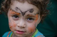 Girl with the Painted Face (nikabuz) Tags: summer girl face festival facepainting arts australia handheld act corin take2 namadginationalpark brindabellamountains corinbank nikond7000 nikkor18105mmlens corinbank2012 corinbankfestival2012