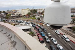 Surveillance Camera at Calexico Port of Entry (CBP Photography) Tags: videocamera primary 2012 videosurveillance portofentry bordertraffic southwestborder