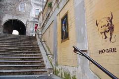 la Perla e Hogre. (RO.BO.COOP.) Tags: street streetart art poster smog mask urbanart vermeer perla posterart raffaello leonardodavinci arteurbana pearlearring hogre robocoop streetartrome smogproject ladypearlearring