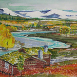 """<b>Mountain Refuge-Norway</b><br/> Eckheart, #2006:07:01, Watercolor, Painting<a href=""""http://farm9.static.flickr.com/8249/8654481115_b4ced303a1_o.jpg"""" title=""""High res"""">∝</a>"""