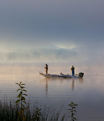 On Lake Sammamish (weberpoint) Tags: fog landscape us washington fishermen unitedstates sammamish marymoorpark