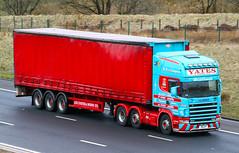 Scania 124 N8 JHY Yates & sons Ltd (gylesnikki) Tags: blue red truck scotland scottish artic yates