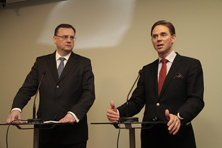 Meeting of PM Jyrki Katainen and Czech PM Petr Nečas in Helsinki 19 April 2013