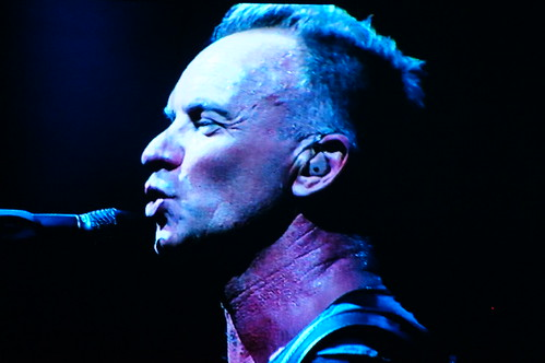 Sting Close Up on Screen