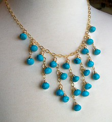 100_1920 (estanciadesigns) Tags: blue stone gold necklace handmade turquoise bib statement handcrafted etsy artisan wirewrapped 14kt freeshipping jewelryjewellery estanciadesigns naturalgemstone
