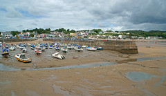 The harbour at Saundersfoot (Minoltakid) Tags: wales clouds boats seaside harbour lowtide yachts pembrokeshire saundersfoot welshcoast welshseaside minoltakid theminoltakid