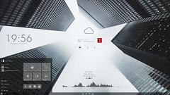 Pimp My Desktop Part 70 (joergermeister) Tags: wallpaper icons architektur wolkenkratzer rainmeter windows10 destoppimp