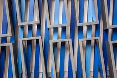 """""""Twelve Silver Rectangles"""" by Derek Morris (anthsnap!) Tags: norfolk cleynextsea cley16 art contemporaryart derekmorris silver threedimensional geometry"""