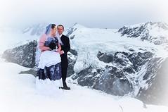 EPIC WEDDINGS (rina sjardin-thompson photography) Tags: wedding newzealand snow mountains weather rural groom bride marriage dome nz foxglacier chancellor southisland blacknwhite westcoast southernalps westland nuptuals bridengroom southwestland rinasjardinthompson