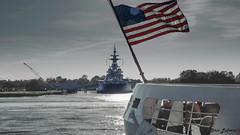 USS North Carolina (Chris Lafort) Tags: battleship memorial ussnorthcarolina wilmington capefear flag patriotism ww2