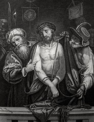 Phillip Medhurst presents John's Gospel: Bowyer Bible print 5541 Jesus man of sorrows John 19:5 Cigola (Phillip Medhurst) Tags: john johnsgospel gospelaccordingtojohn gospel jesus christ jesuschrist bowyerbible bible bibleillustration