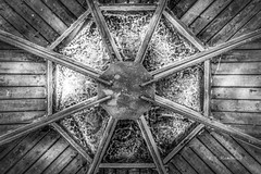 Angles Everywhere (Roy Manchester) Tags: canon canon6d catskillnewyork catskill canonllenses llenses light blackwhite contrast angles availablelight architecture abstract 50mmprime 50mm12 wood iron 50mm12l