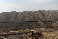 I_B_IMG_8271 (florian_grupp) Tags: asia china steam train railway railroad bayin lanzhou gansu desert landscape loess mountains sy ore mine 282 mikado steamlocomotive locomotive