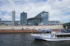 Hauptbahnhof by Spree (StudioMde) Tags: hauptbahnhof spree 2016 berlin berlijn river boat studiomde fuji