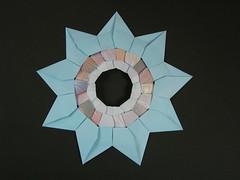 The Nonag, reverse (Mlisande*) Tags: mlisande origami modular nonagon star