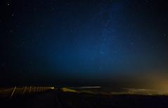 infinite (JuanCarViLo) Tags: starry star sea cantabrico comillas spain milky way path long exposure fence blue night