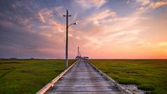 Rutgers University Marine Field station (DJawZ) Tags: coast bay atlantic ocean marine field station rutgers clouds sky summer 2016 nj new jersey sunset sunsetwx green pastel color marsh grass