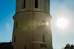 DSC_8327 (Adrian Royle) Tags: lithuania vilnius travel holiday random street architecture cathedral clocktower sun