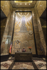 Mostrador del Hall del Empire State Building (JuandeCT) Tags: estadosunidos us nuevayork empire state