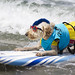 Surfer dog with mohawk