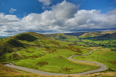 View from Mother Hill (r3cycl3r) Tags: derbyshire peak district winding roads hills valleys clouds sky