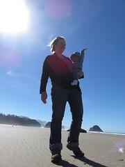 beach magic (carolyn_in_oregon) Tags: oregon pacificocean ecolastatepark coast crescentbeach me jacob