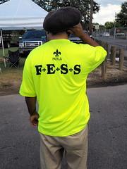 FESS (DarkLantern) Tags: people streetphotography employment olympusomd em10 17mmf18 fleurdelis nola neworleans