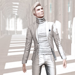 The Devil Wears White (The Virtual Gent) Tags: thevirtualgent thevirtualgentleman tvg virtual gent gentleman world virtualworld secondlife sl fashion mensfashion malefashion secondlifetravel tmd themensdepartmen themensdepartment thebookofdaniel charity charityevent deadwool sweater turtleneck coat jacket suitcoat suitjacket ascend pants trousers bottoms versov shoes sneakers footwear mandala earring earplug nivaro skin action hair hairstyle letre eyes mesheyes ears meshears posemaniacs pose poses chouchou location sim white menonlymonthly mom