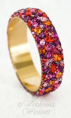 Magdalena By Verdonna Westcott (Verdonna.com) Tags: httpwwwverdonnacom rhinestones glitz bejeweled bedazzled bracelet bangle round pink fresh glamourous glamour opulent jewels