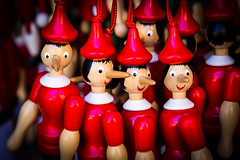 Pinocchio Toys (King Grecko) Tags: italia pinocchio red story traditional canon eos5dmk3 fable fairytale italian italiana italy lightroom nose puppet toy