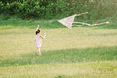 Catch the summer's tail (Hao Chan Time Sample Studio) Tags: outdoor park green child portrait landscape kite canon summer