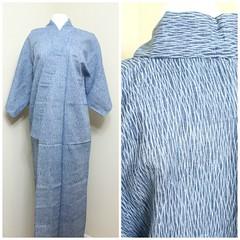 Kimono, Shibori (FurugiStar) Tags: japanese vintage clothing furugistar traditional kimono arimatsu narumi shibori blue indigo light hemp linen artisan folk wear