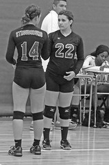 IMG_9554 (SJH Foto) Tags: girls volleyball high school stroudsburg pa pennsylvania team tween teen teenager varsity substitution sub rotation black white blackandwhite bw monocolour