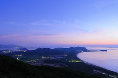 Mt.Hiyama at blue moment (tomosang R32m) Tags: yakei night twilight blue  canon eos 6d hiyama sunset sky fukuoka itoshima hiking silhouette japan         friend beach beachline