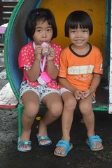 cute girls (the foreign photographer - ) Tags: two cute girls sitting playground khlong bang bua portraits bangkhen bangkok thailand nikon d3200