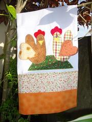 PANO DE PRATO GALINHAS! (Lucimar Lima) Tags: de pano patchwork em prato galinhas
