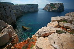 Clifts (Katka S.) Tags: ocean sardegna blue sea italy nature water rock island clift rocks sardinia clear shore steep reservation clifts
