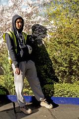 workman's break (shadowjumper) Tags: street london eyecontact backdrop worker contrasts labourer leicax2